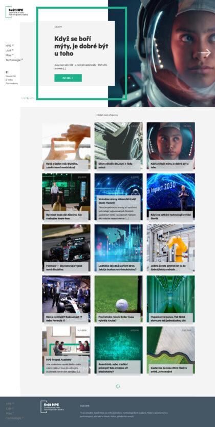 Hewlett Packard Enterprise - realizace, Web design