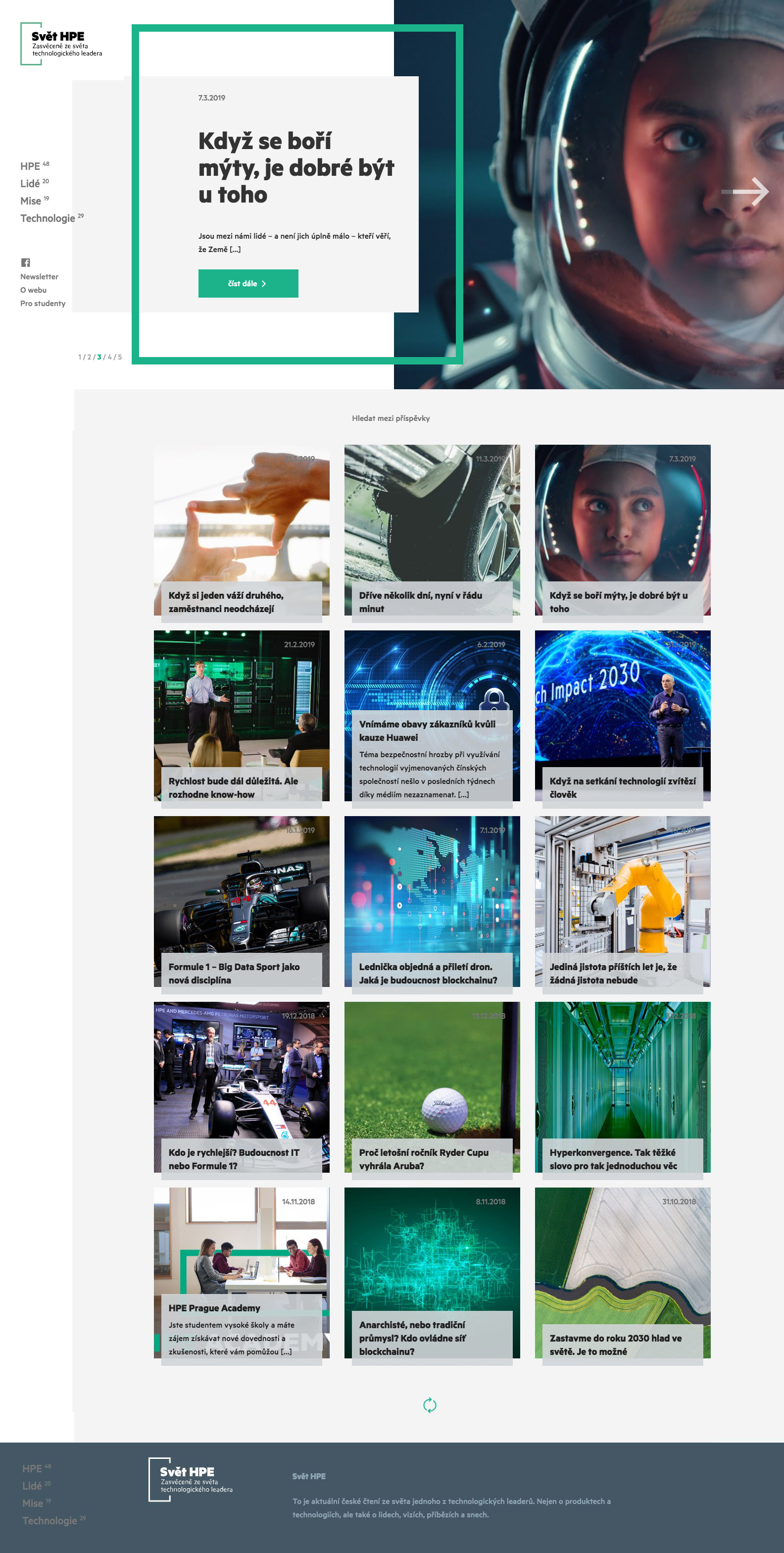 Hewlett Packard Enterprise - realizace, Webdesign